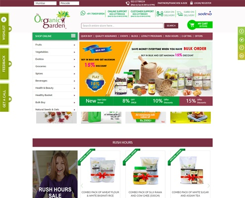 shopping web design Organic Garden