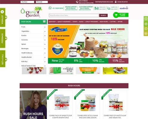 shopping web design Organic Garden