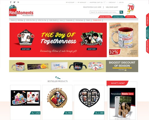 ecommerce web design Red Moment